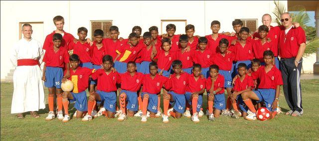 Squadra di calcio della scuola Veritas Academy
