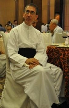Padre Daniele Couture durante suo giubileo 2009